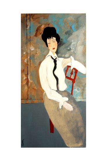 Modigliani Woman with White Blouse, 2016-Susan Adams-Giclee Print
