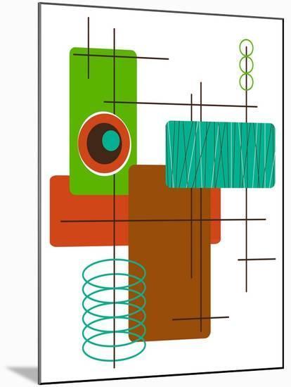 Modop in Green-Tonya Newton-Mounted Art Print