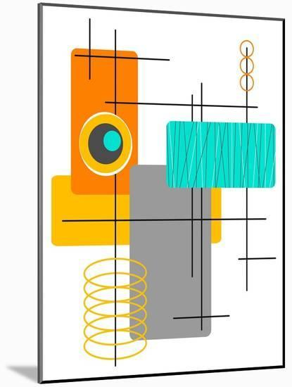 Modop in Orange-Tonya Newton-Mounted Art Print
