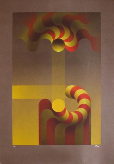 Modulation jaune-Julio Le Parc-Limited Edition