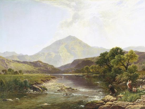 Moel Hebog from the Stepping Stone-Henry John Boddington-Giclee Print