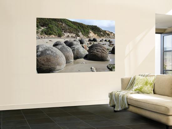 Moeraki Boulders, Koekohe Beach, New Zealand-Stocktrek Images-Wall Mural