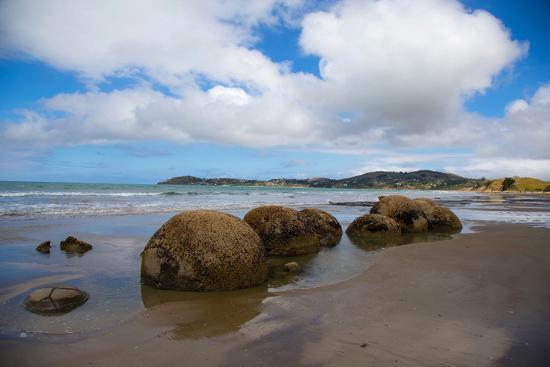 Moeraki Boulders, Koekohe Beach, Otago, South Island, New Zealand, Pacific-Suzan Moore-Photographic Print