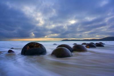 Moeraki Boulders Massive Spherical Rocks at Dawn--Photographic Print