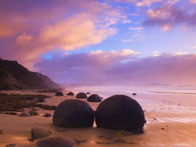 Moeraki Boulders, Moeraki, Otago, South Island, New Zealand, Pacific-Jochen Schlenker-Photographic Print
