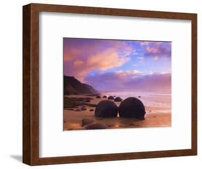 Moeraki Boulders, Moeraki, Otago, South Island, New Zealand, Pacific-Jochen Schlenker-Framed Photographic Print