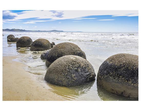 Moeraki Boulders New Zealand--Premium Giclee Print