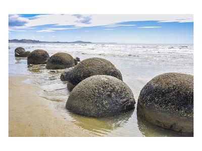 Moeraki Boulders New Zealand--Art Print