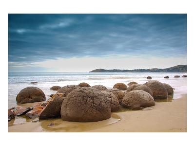 Moeraki Boulders New Zealand--Art Print