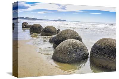 Moeraki Boulders New Zealand--Stretched Canvas Print
