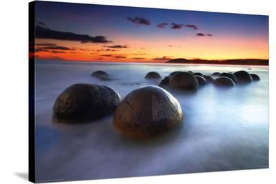 Moeraki Boulders--Stretched Canvas Print