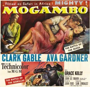 Mogambo, Grace Kelly, Clark Gable, Ava Gardner, 1953