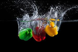 Paprika Splash by Mogyorosi Stefan