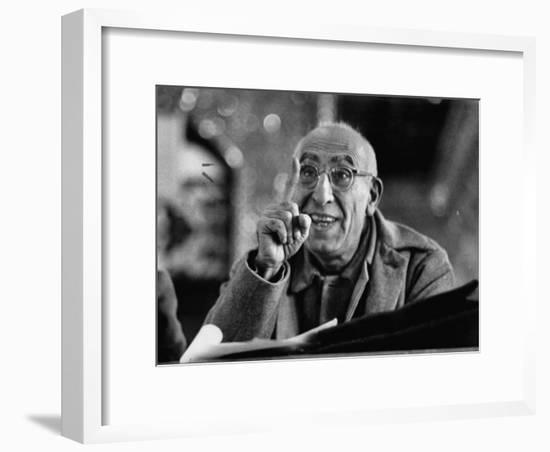 Mohamed Mossadegh, Premier of Iran, Correcting the Prosecutor's Grammar at His Trial-Carl Mydans-Framed Photographic Print