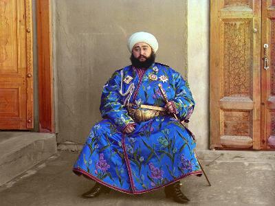 Mohammed Alim Khan, the Last Emir of Bukhara, 1911-Sergey Mikhaylovich Prokudin-Gorsky-Giclee Print