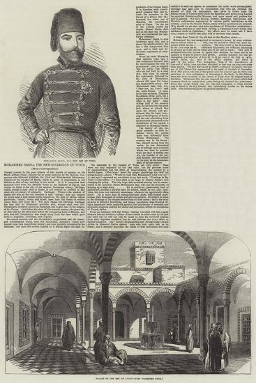 Mohammed Basha, the New Sovereign of Tunis--Giclee Print