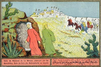 Mohammed's Flight from Mecca in 622 Ad, Postcard from the 1920S-30S--Giclee Print