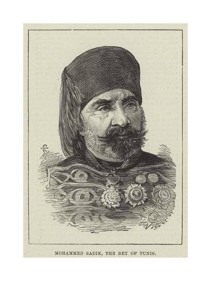 Mohammed Sadik, the Bey of Tunis--Giclee Print