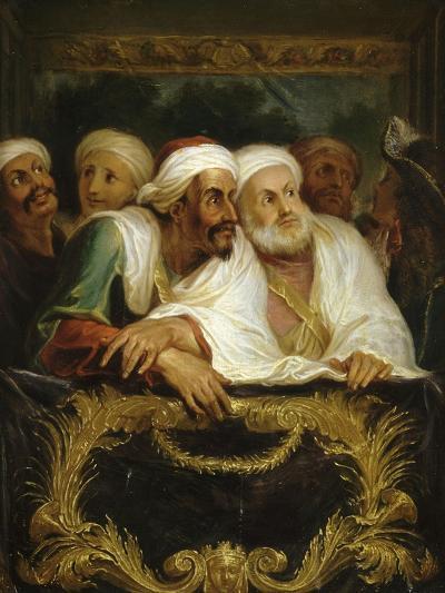 Mohammed Temin, ambassadeur du Sultan du Maroc, assistant à un spectacle dans une loge de la-Antoine Coypel-Giclee Print