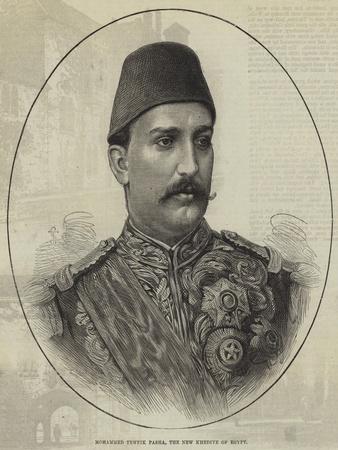 Mohammed Tewfik Pasha, the New Khedive of Egypt--Giclee Print