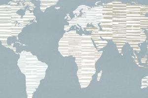 Calm World Map Crop by Moira Hershey
