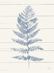 Fern Print II Blue Crop by Moira Hershey
