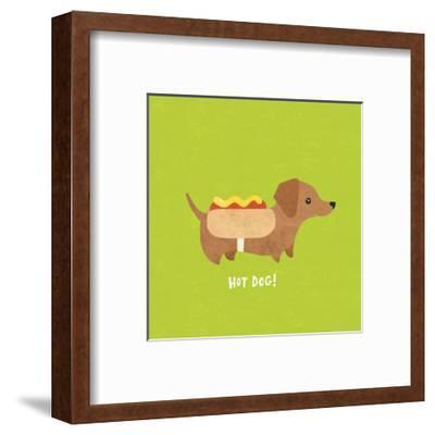 Good Dogs Dachshund Bright by Moira Hershey