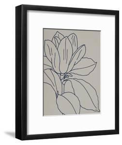 Magnolia Line Drawing v2 Gray Crop by Moira Hershey