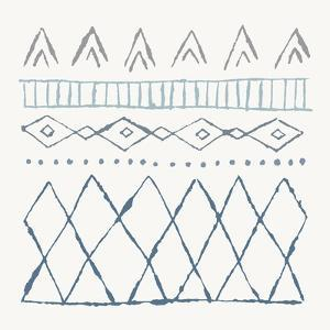 Nordic Vibes III Blue by Moira Hershey