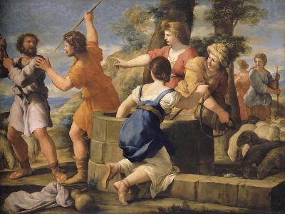 Moïse et les filles de Jethro-Giovanni Francesco Romanelli-Giclee Print