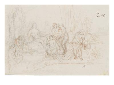 Moïse sauvé des eaux-Charles Le Brun-Giclee Print