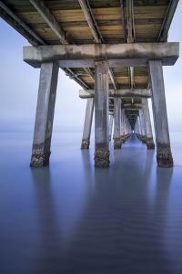 Naples Pier Vertical by Moises Levy