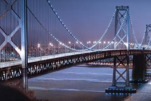 Oakland Bridge 2 Color by Moises Levy