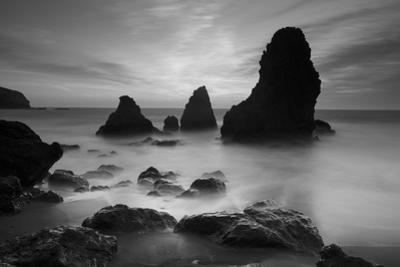 Rodeo Beach I, Black and White by Moises Levy