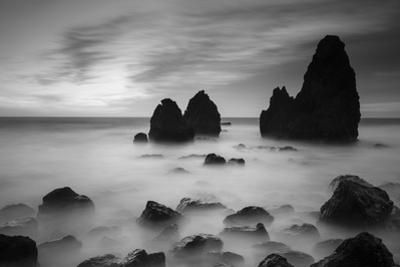 Rodeo Beach II, Black and White by Moises Levy