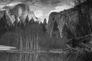 Yosemite Reflection 2 BW by Moises Levy