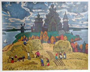 Russian Landscape by Moisey Kogan