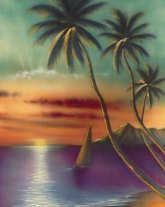Diamond Head Sunset, Oahu, Hawaii, USA by Mokihana