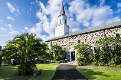 Mokuaikaua Church, Kailua-Kona, Big Island, Hawaii, United States of America, Pacific-Michael-Photographic Print