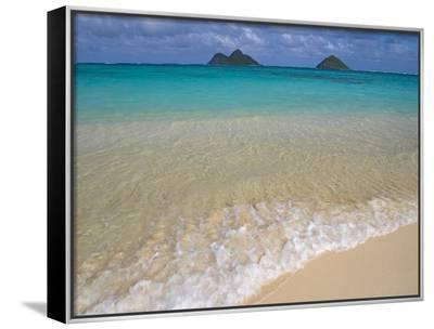 Mokulua Islands from Lanikai Beach-Darrell Gulin-Framed Canvas Print