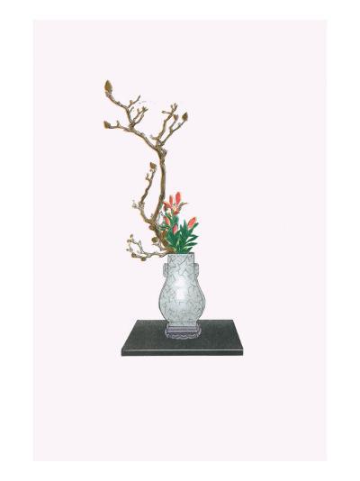 Mokuren & Yuri (Magnolia And Lily) In Kenryu-Josiah Conder-Art Print