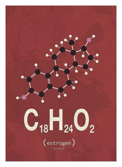 Molecule Estrogene-TypeLike-Art Print