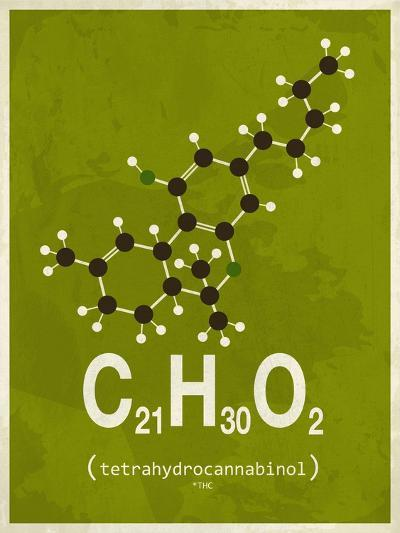 Molecule Thc--Art Print