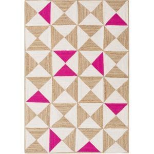 "Molino Area Rug - Hot Pink/Beige 5' x 7'6"""