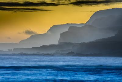 Molokai's North Shore Sea Cliffs at Sunrise-Richard A^ Cooke-Photographic Print