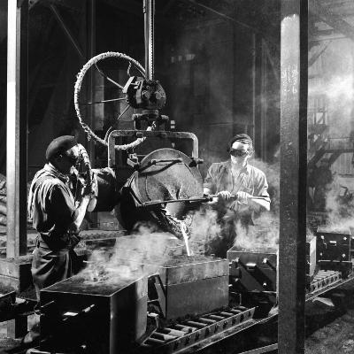 Molten Metal on a Production Line-Heinz Zinram-Photographic Print