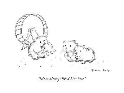 """Mom always liked him best."" - Cartoon-Trevor Hoey-Premium Giclee Print"