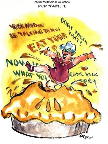Mom 'n' Apple Pie - New Yorker Cartoon-Lee Lorenz-Premium Giclee Print
