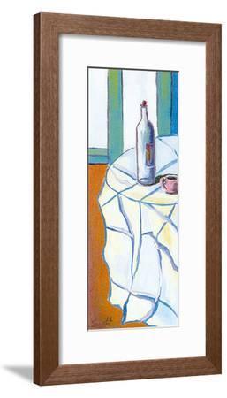 Moment in a Bar I-Claret-Framed Art Print