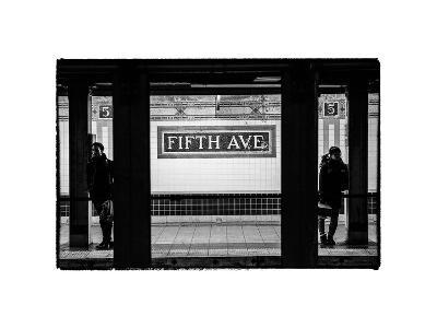 Moment of Life in NYC Subway Station to the Fifth Avenue - Manhattan - New York City-Philippe Hugonnard-Photographic Print